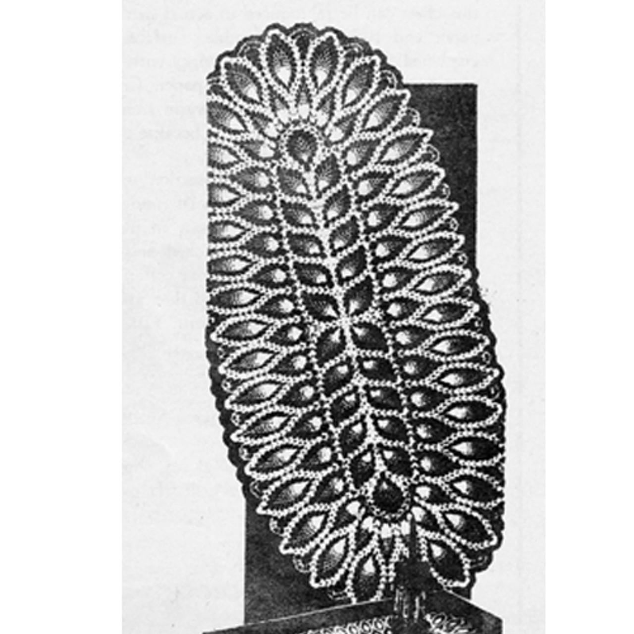 Crocheted Pineapple Runner Pattern Design 7194