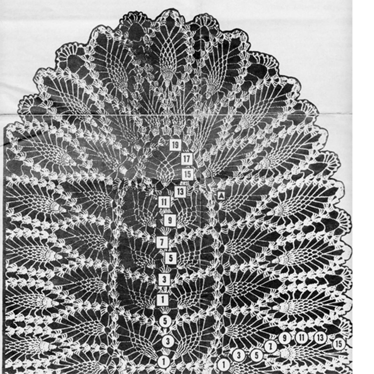 Pineapple Scarf Detail