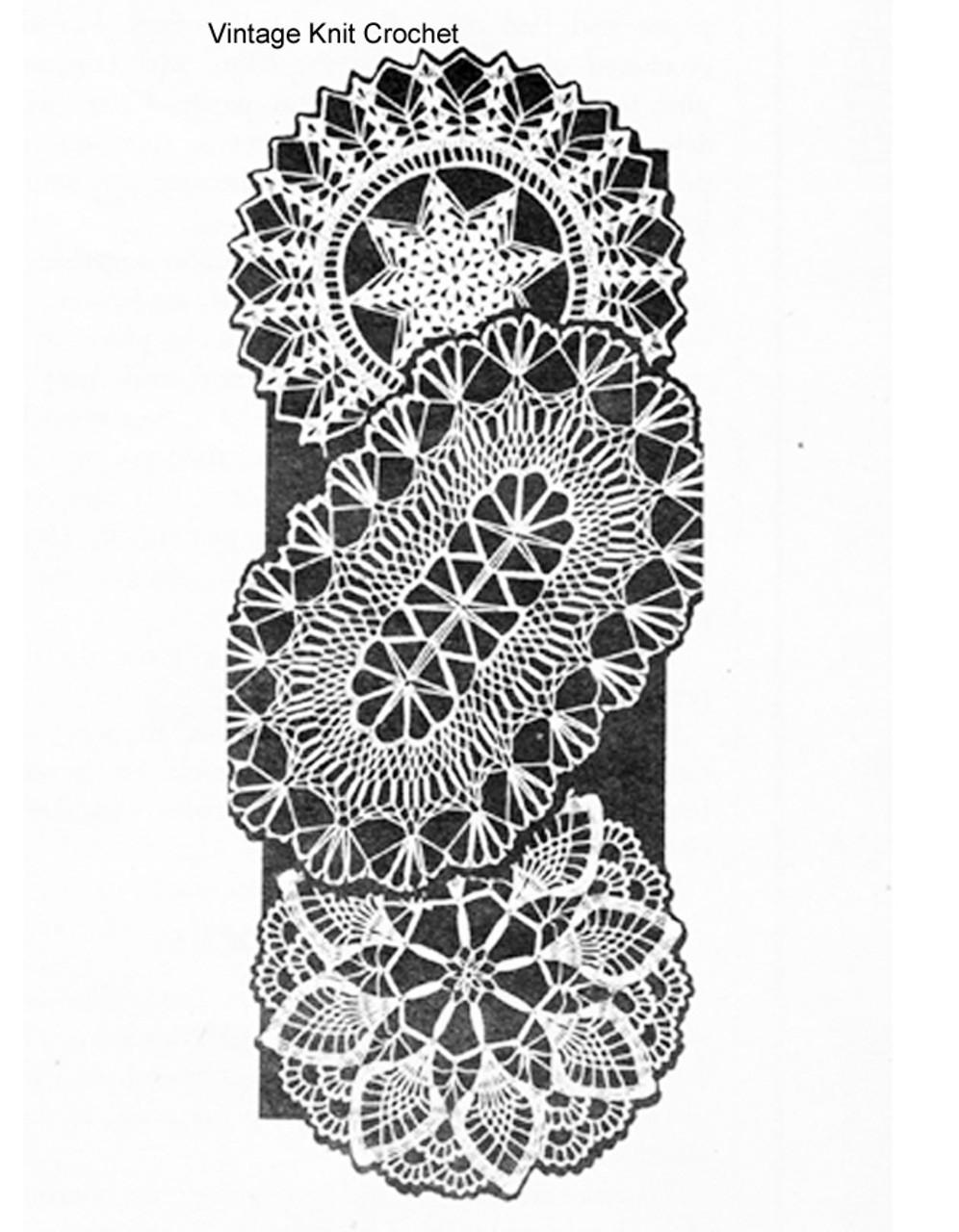 Round Oval Doilies Crochet Pattern, Laura Wheeler 882