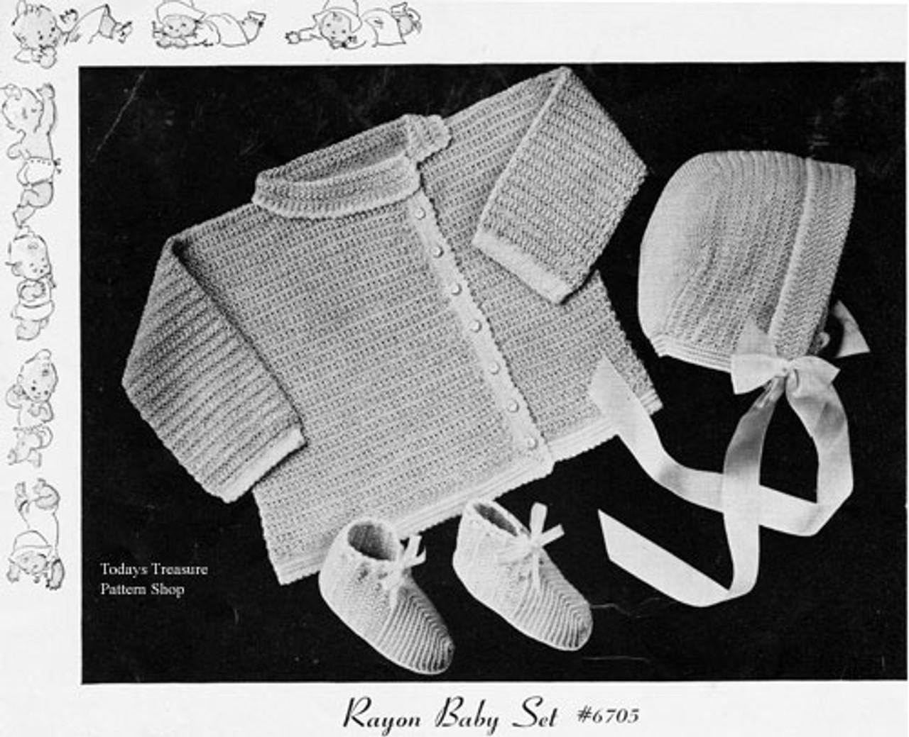 Three Piece Crochet Baby Set Pattern