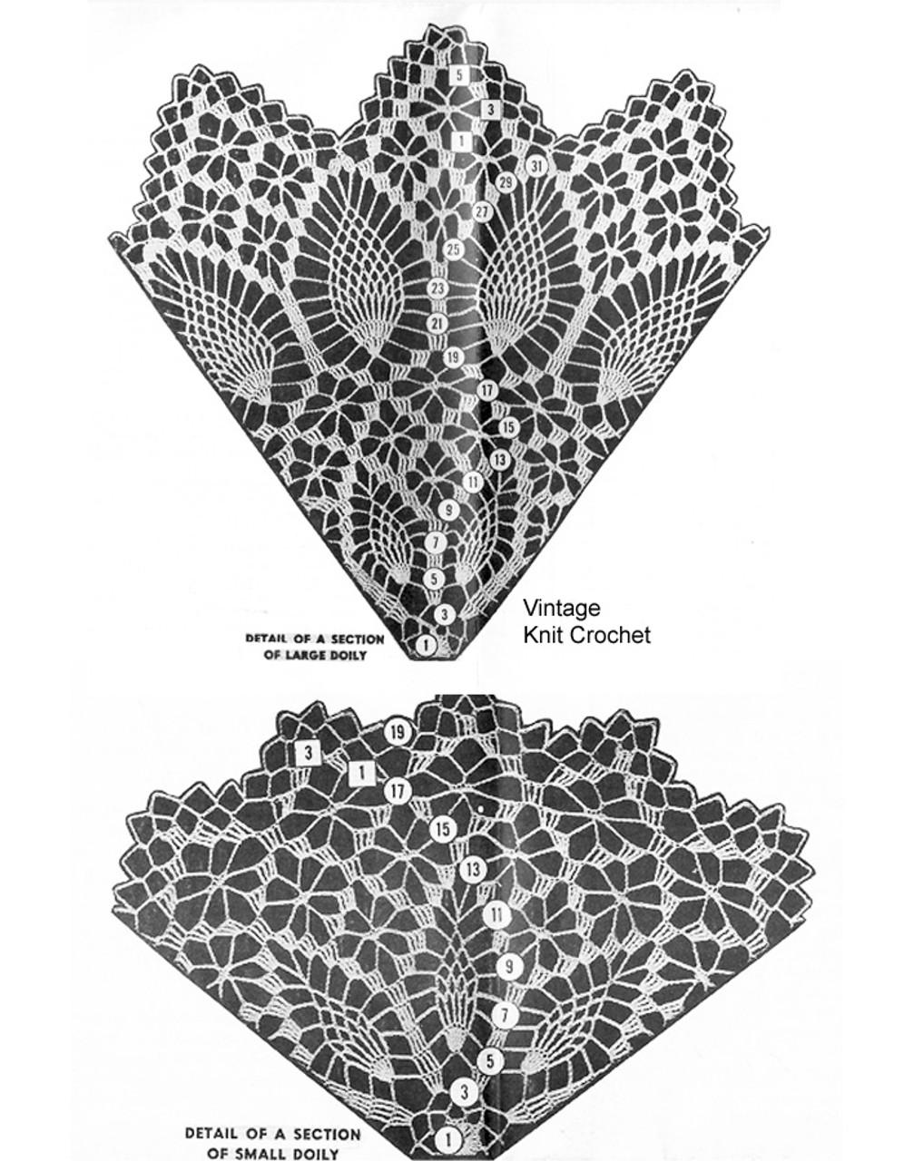 Crochet Spiderweb Doily pattern stitch detail, Laura Wheeler 813
