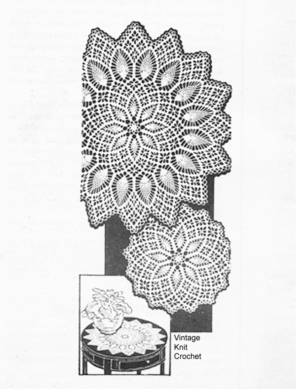Large spiderweb crochet doily pattern, Laura wheeler 813