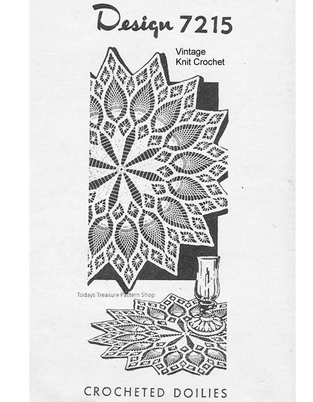 Small Crochet pineapple doily pattern Design 7215