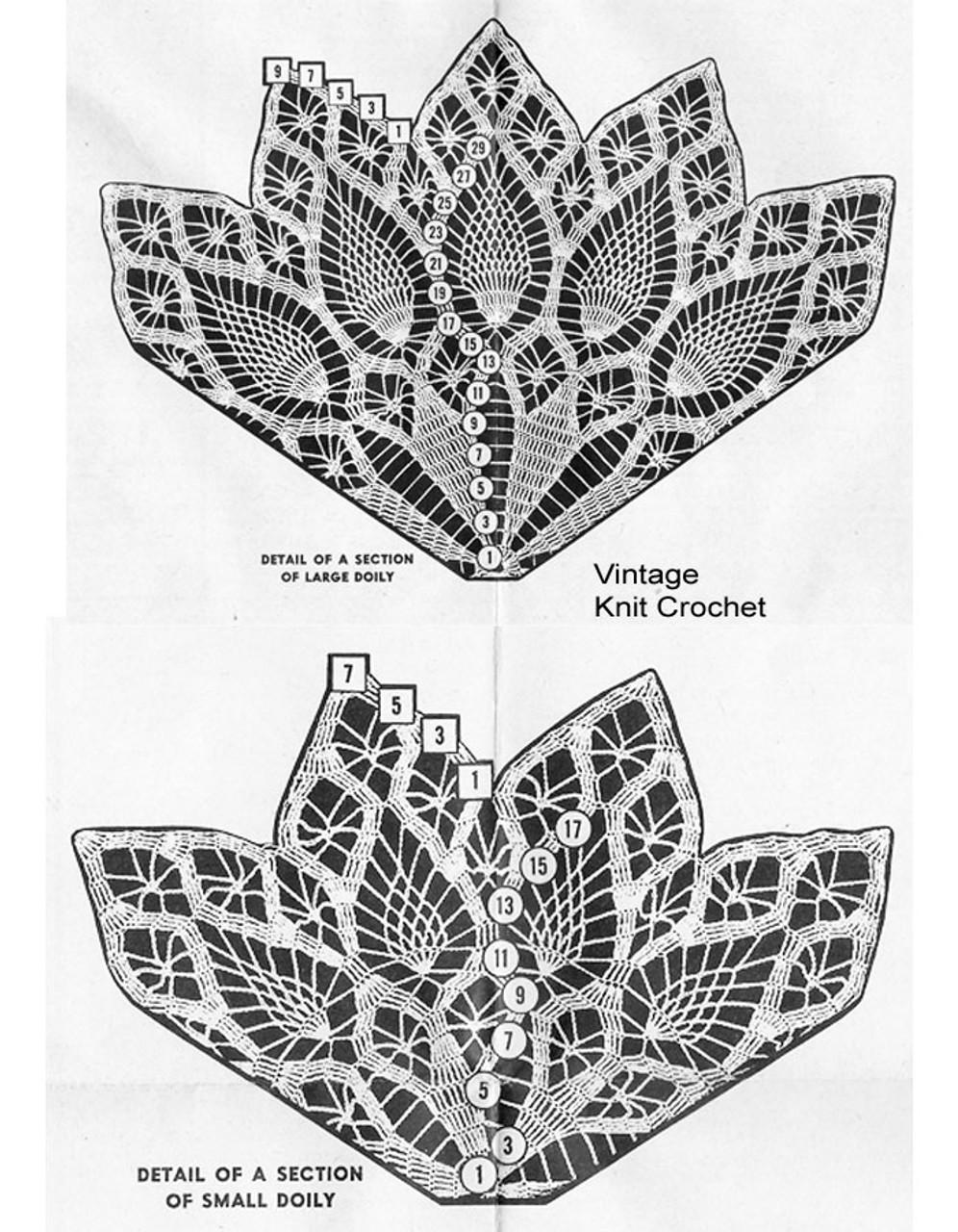 Design 7215, Crocheted Pineapple Doily Pattern  Illustration