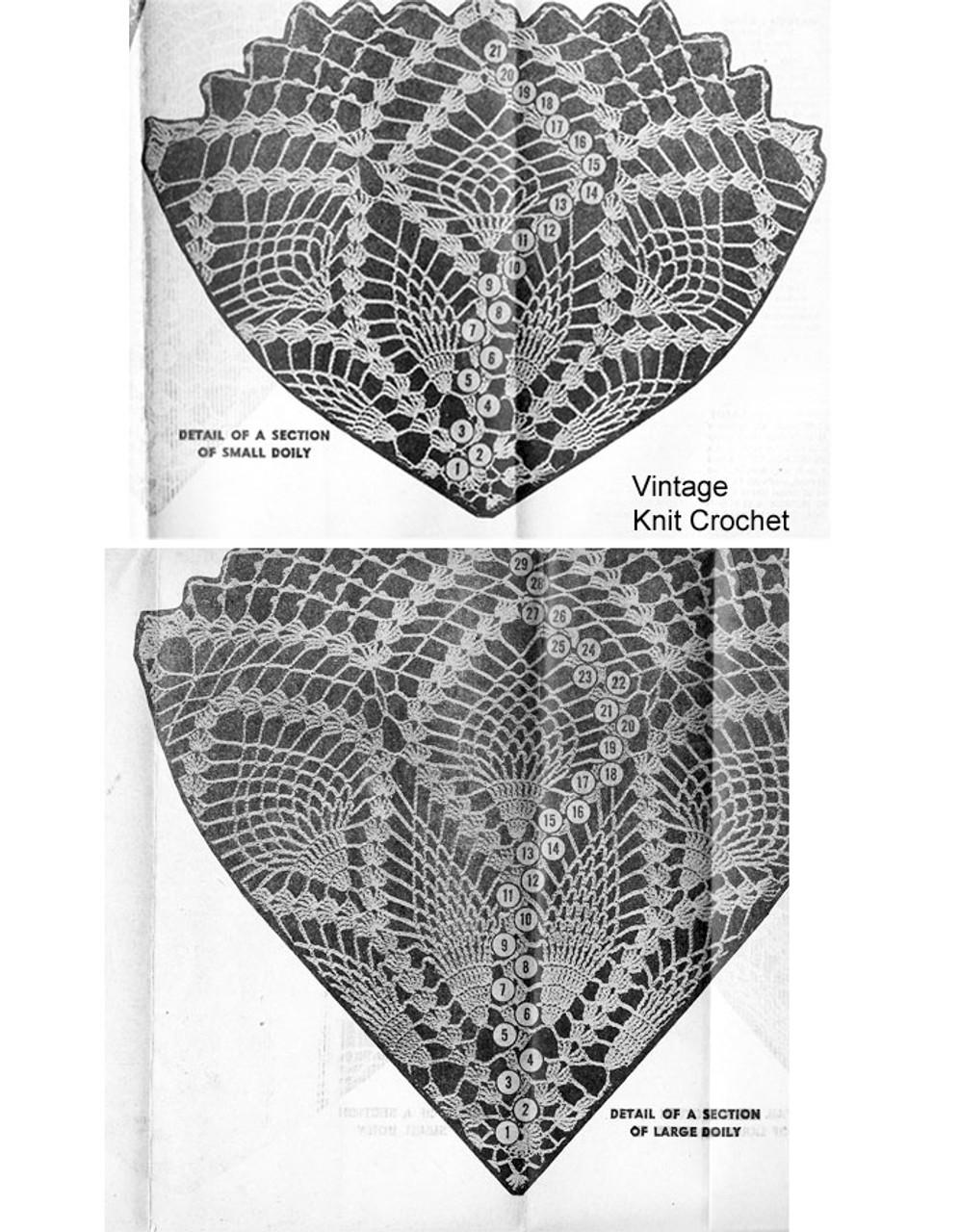 Crochet Doily Pattern Stitch Illustration, Alice Brooks 7083