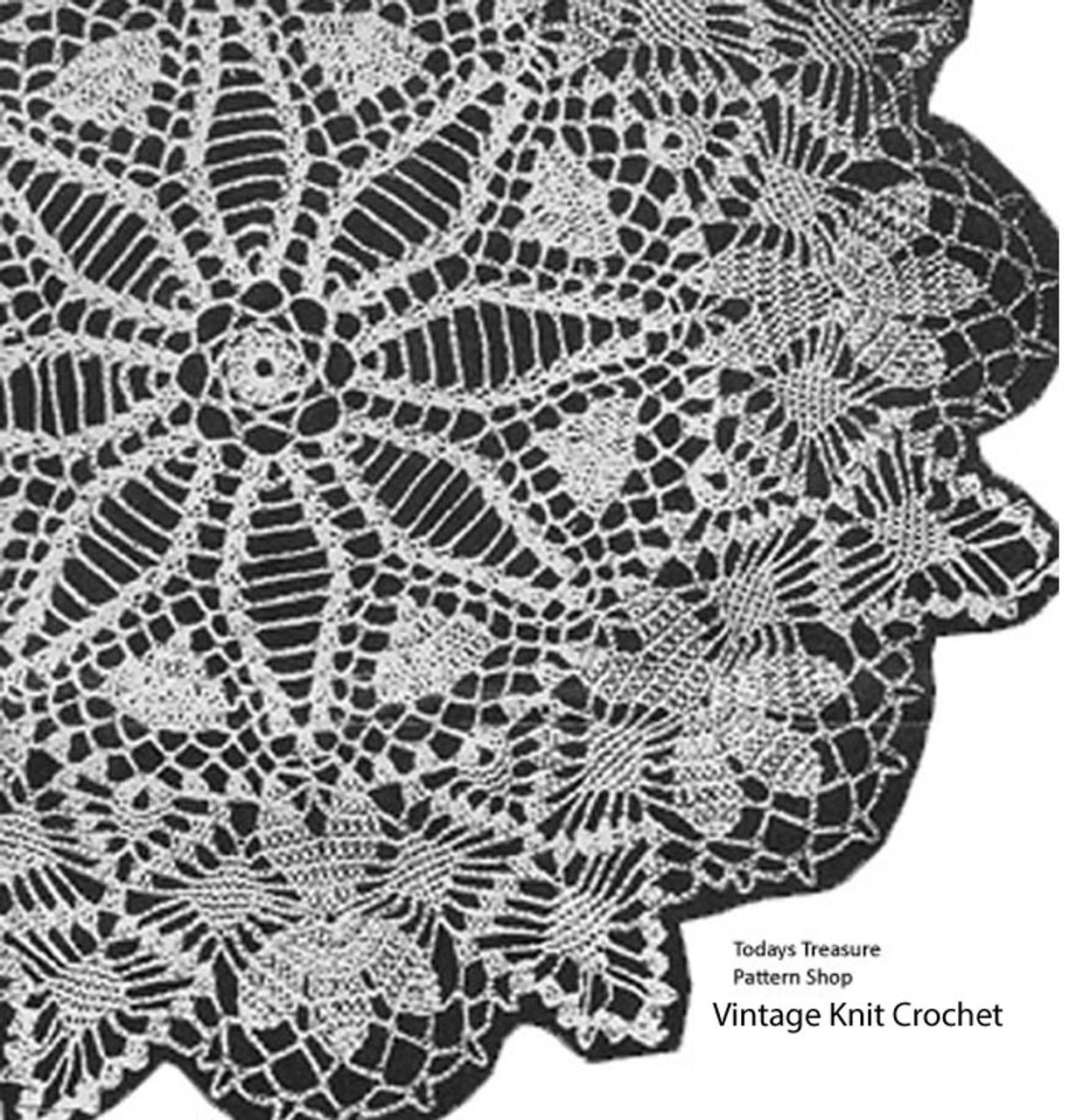 Vintage Crochet Princess Doily Pattern No 1043