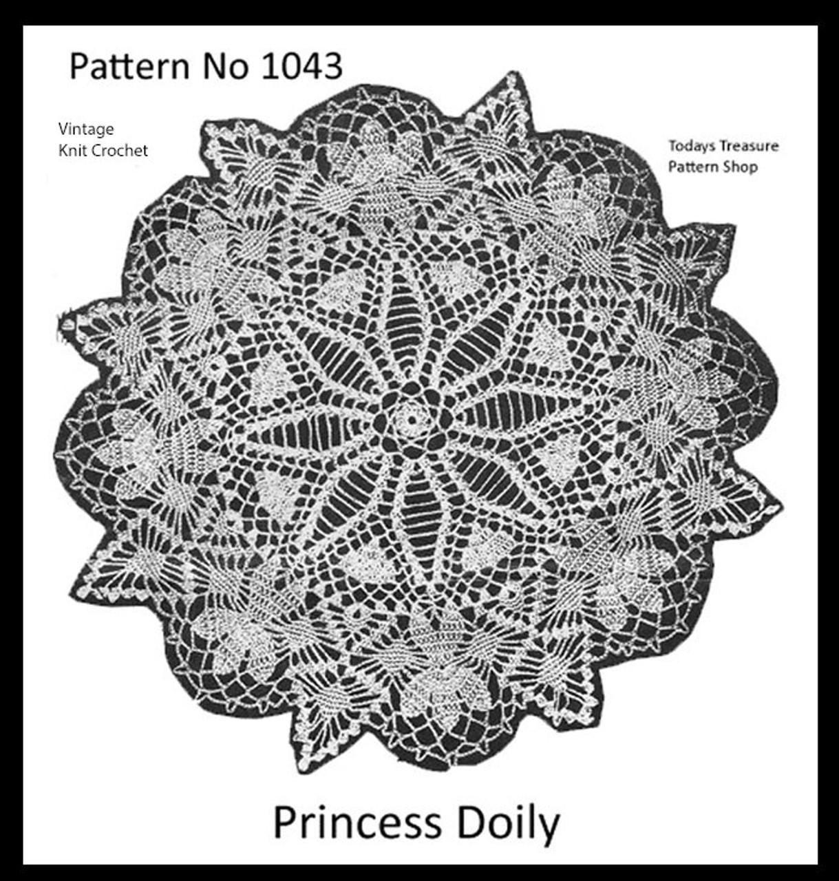 Princess Crochet Doily Pattern, Mail Order 1043