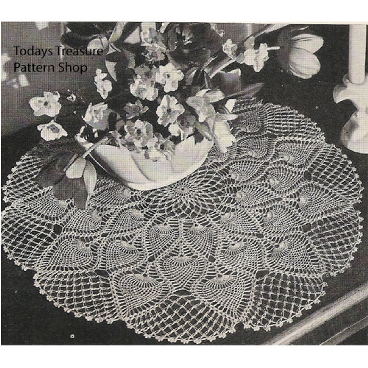 Crochet Pineapple Centerpiece Doily Pattern