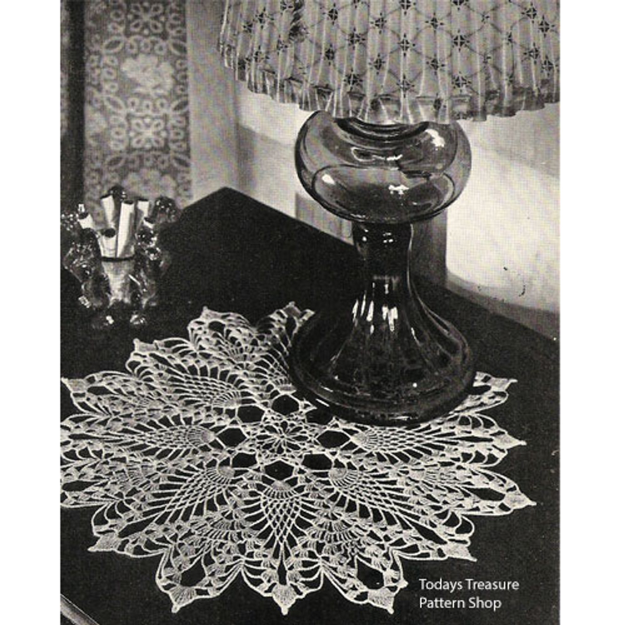 Pineapple Crocheted Doily Pattern