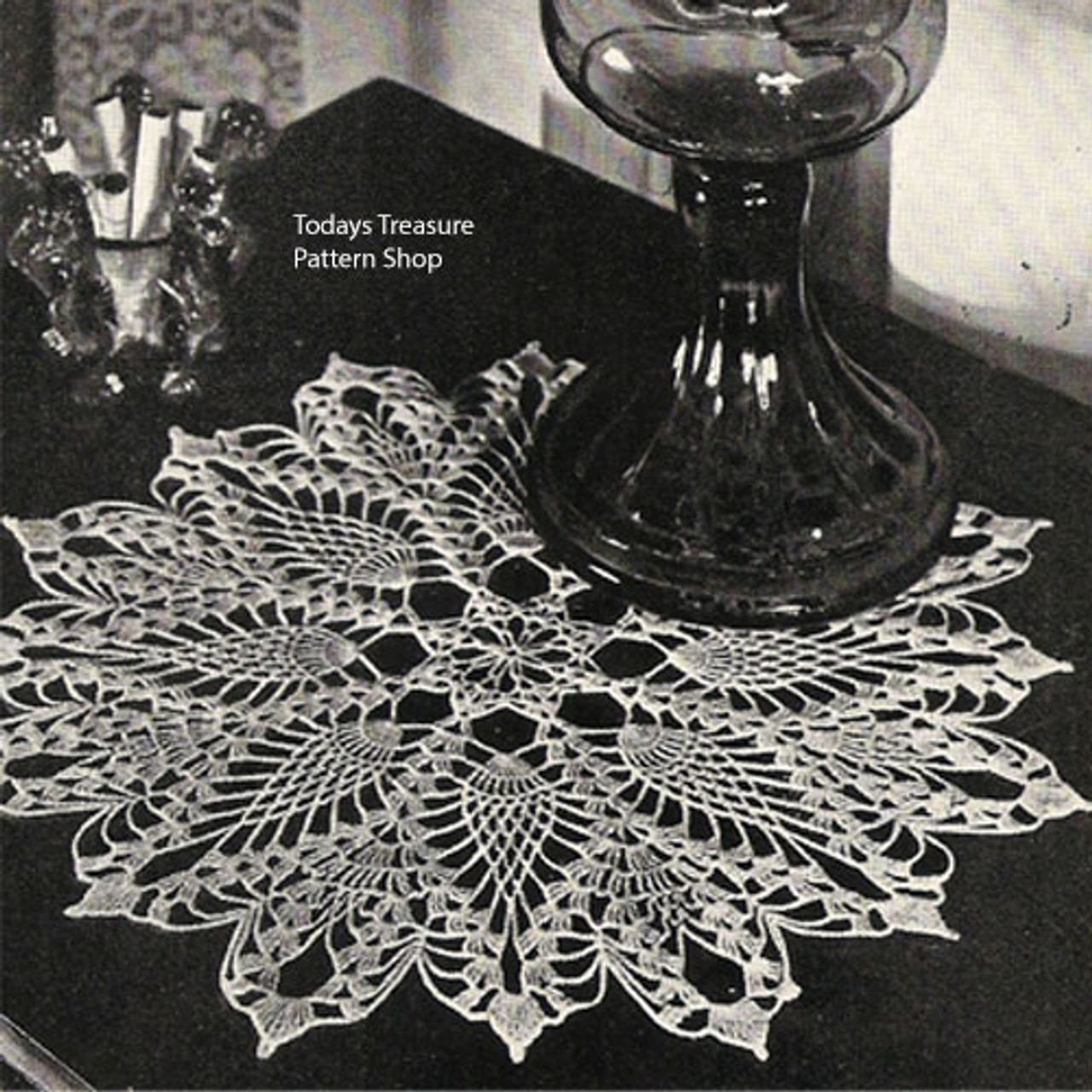 Pineapple Doily Pattern from Spool Cotton
