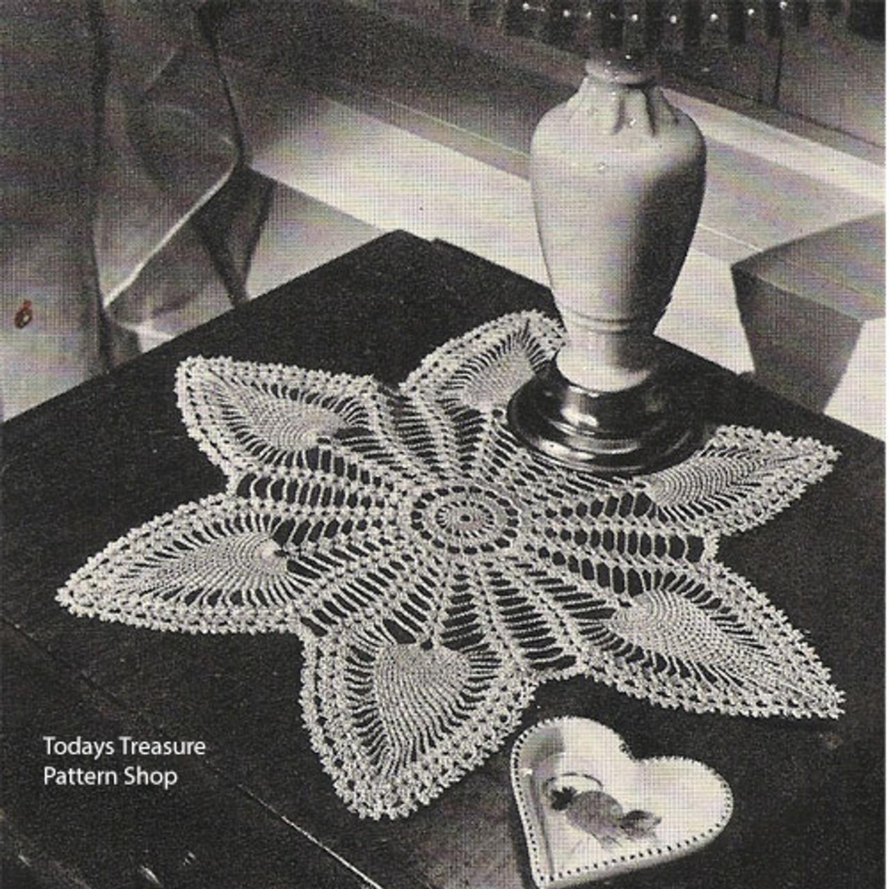 Pineapple Petals Vintage Crochet Doily Pattern