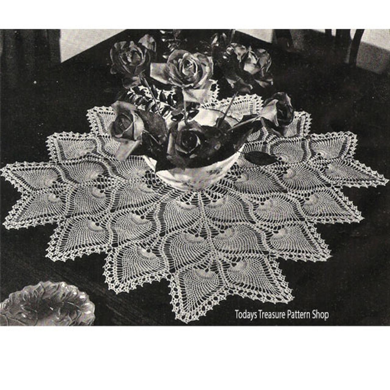 Crochet Pineapple Medallion Doily or Cloth Pattern