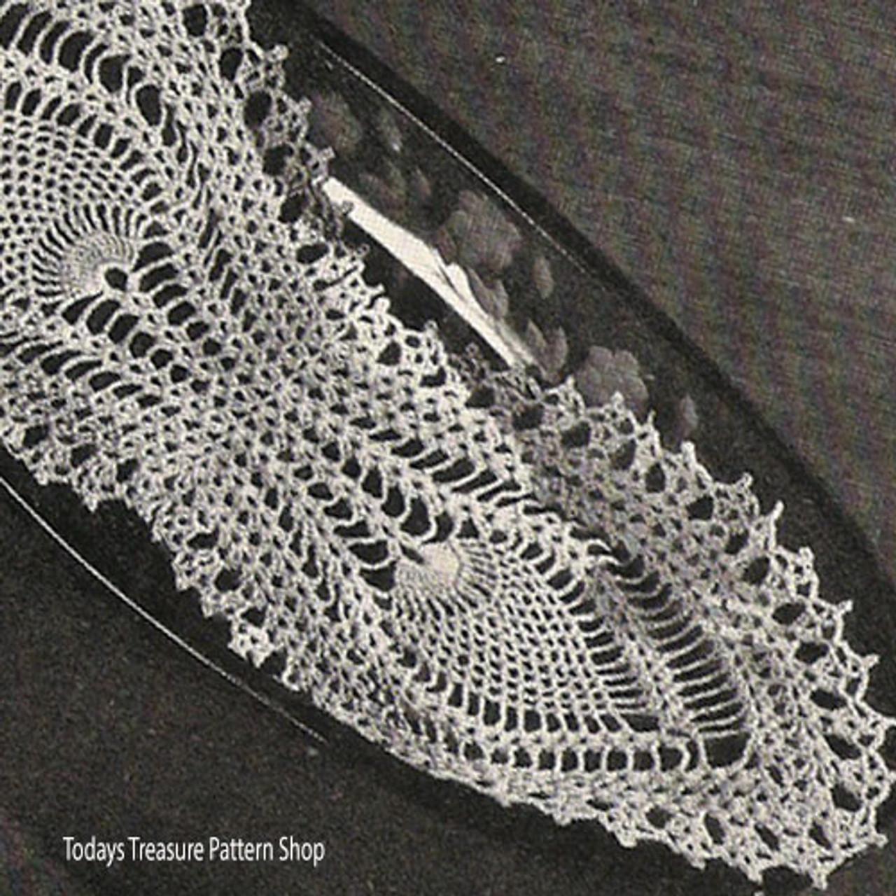 Pineapple Bread Tray Doily Crochet Pattern