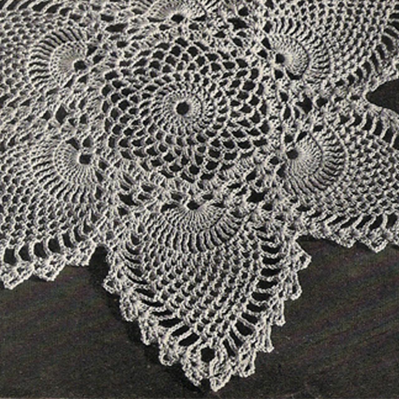 Pineapple Doily Crochet Detail