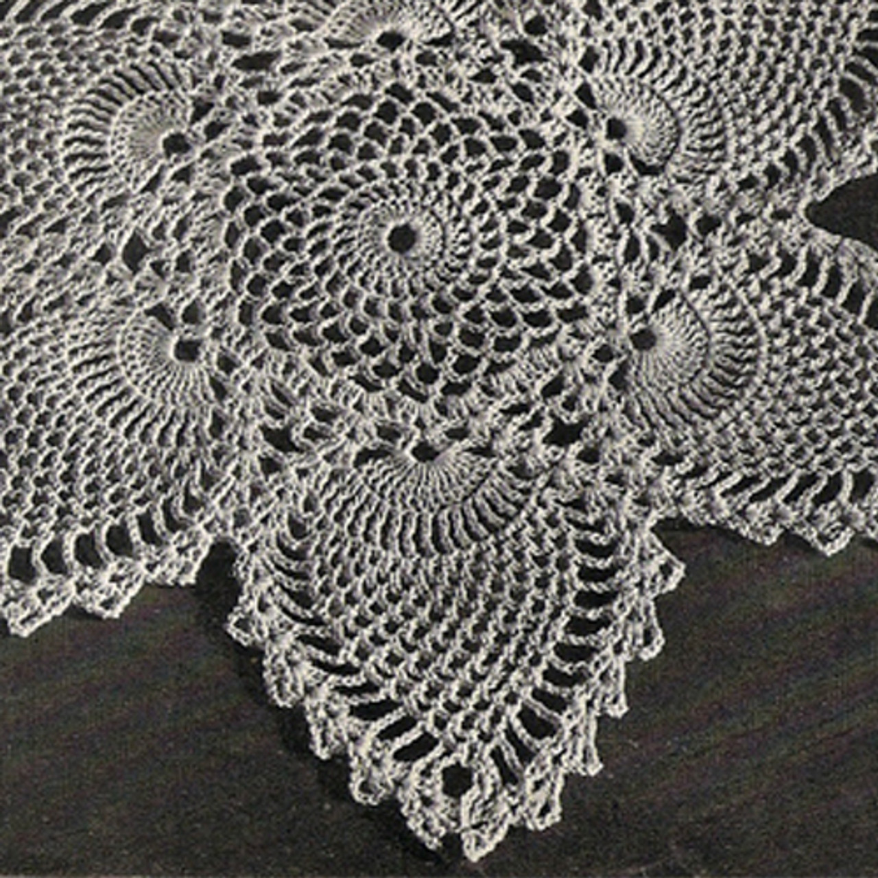 Pineapple Doily Crochet Detail