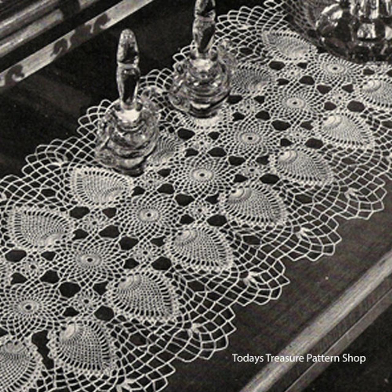 Long Crocheted Pineapple Runner Pattern