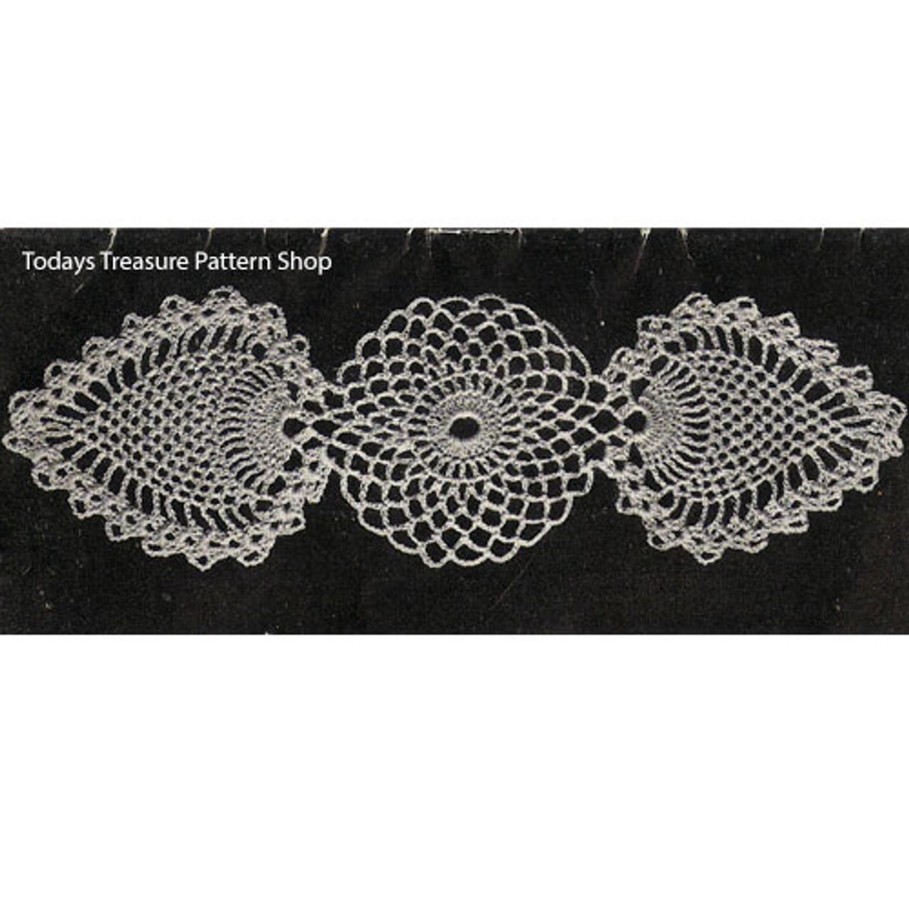 Crochet Pineapple Medallions Detail