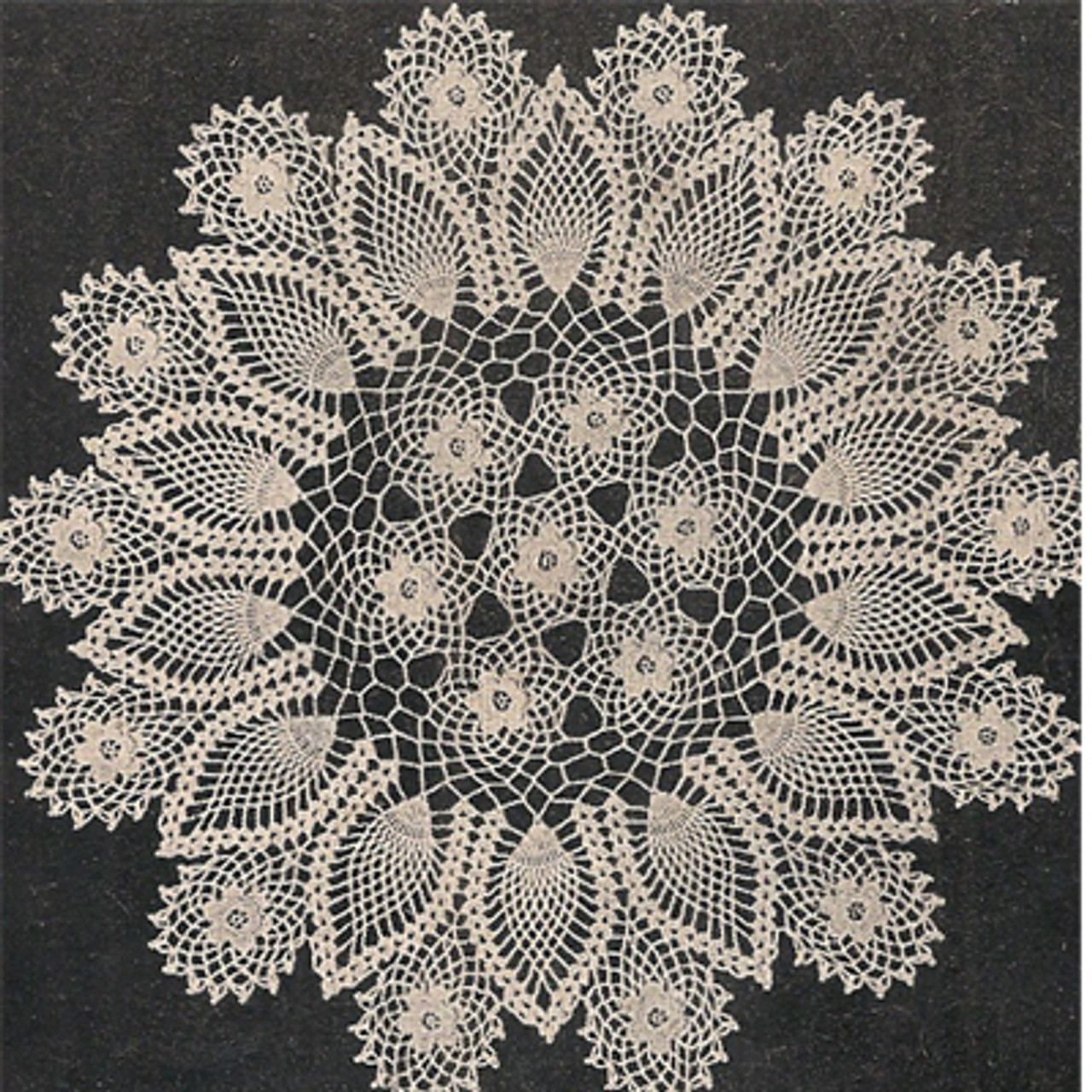 Workbasket Crochet Pineapple Doily Pattern