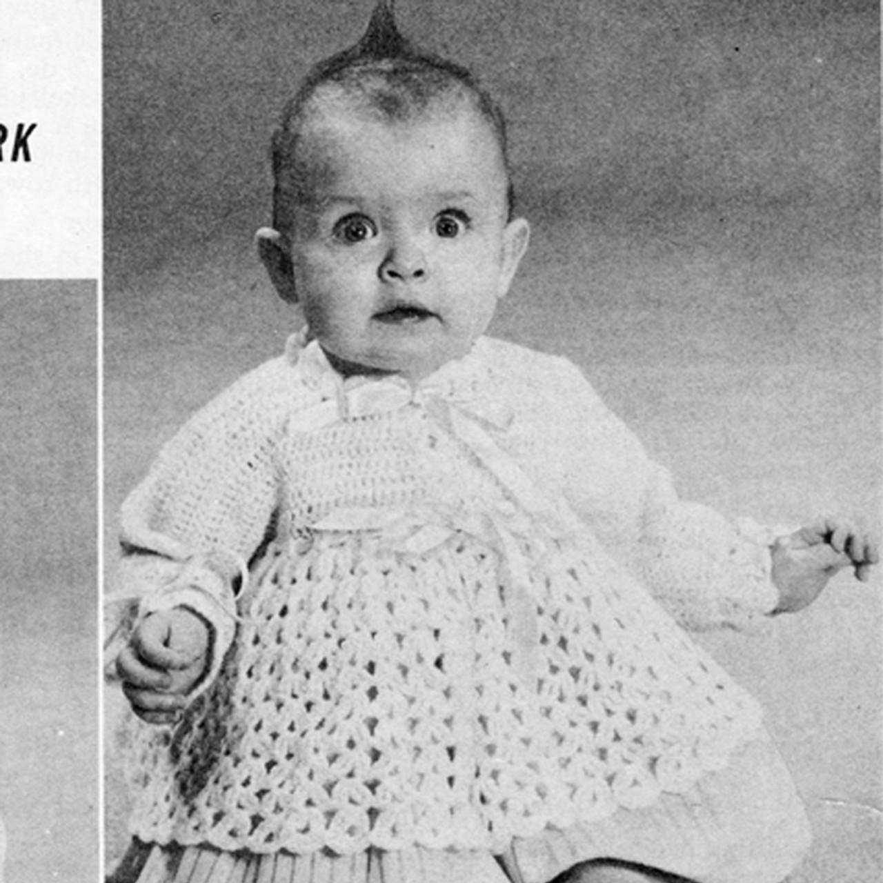 Vintage Crocheted Baby Jacket Pattern