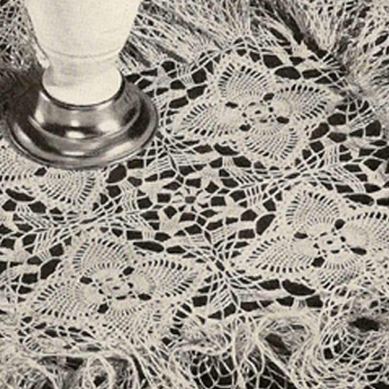 Pineapple Flower Doily Crochet Pattern, Vintage 1940s