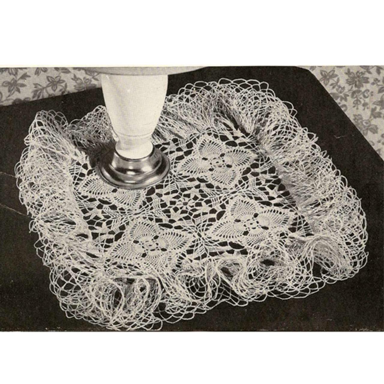 Flower Patch Ruffled Crochet Doily Pattern