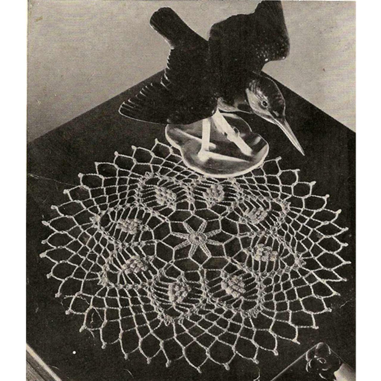 Vintage Kingfisher Nest Doily Crochet Pattern