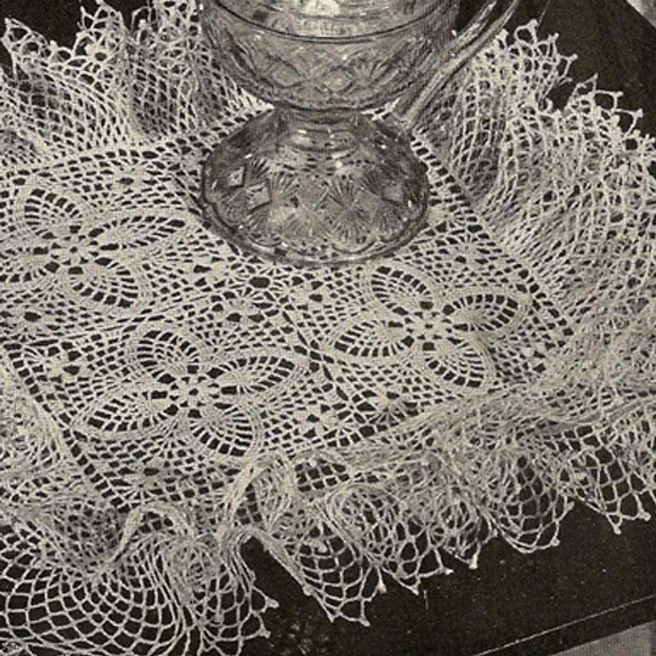 Vintage 1940s Square Crochet Doily Pattern