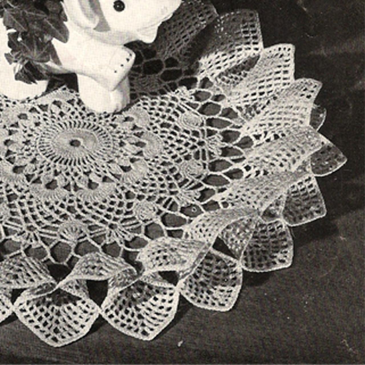 Fluted Crochet Flower Doily pattern