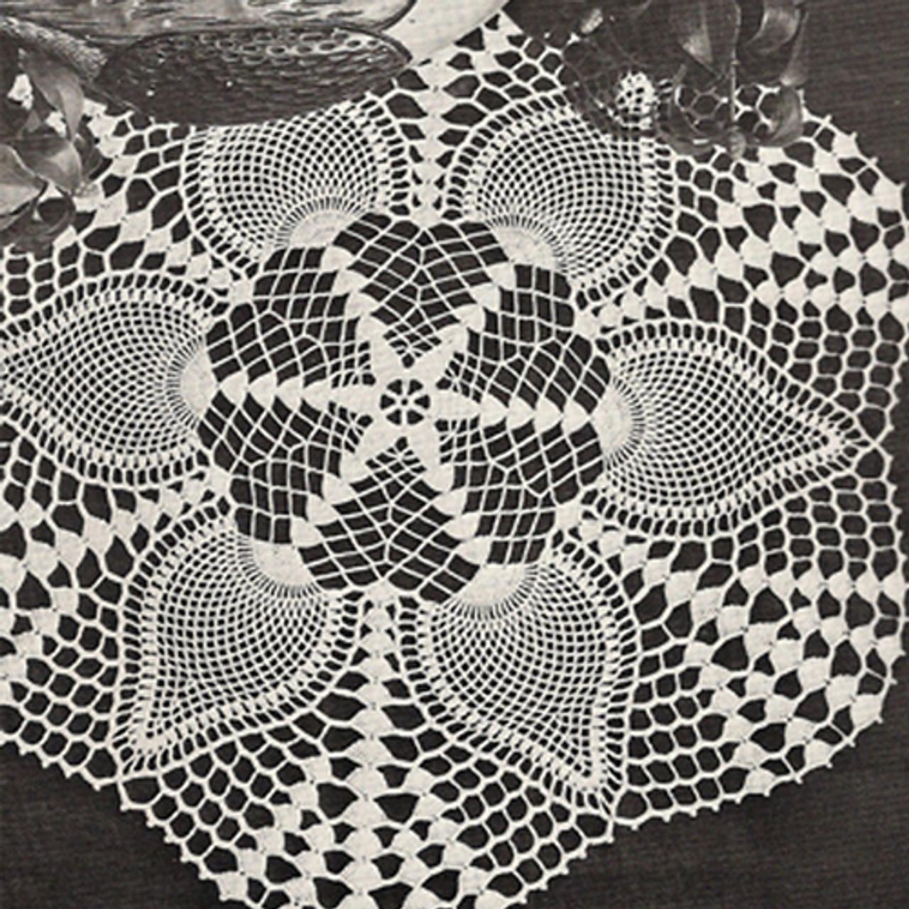 Crochet Pineapple Shell Doily Crochet Pattern
