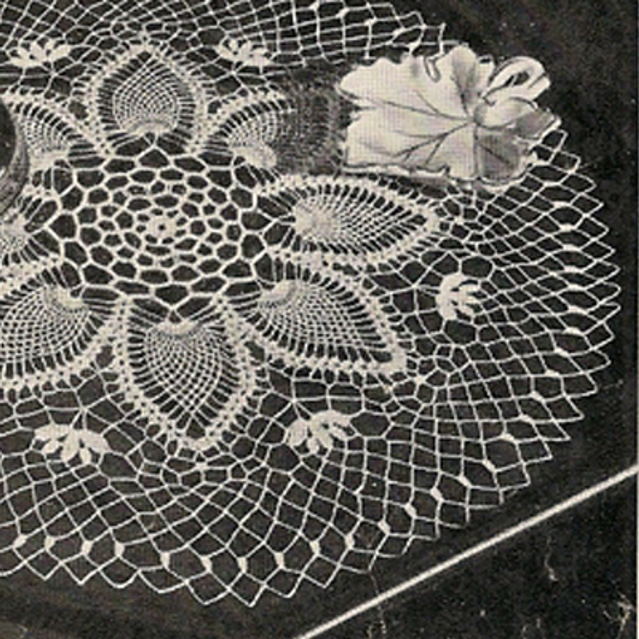 Crocheted Pineapple Flower Doily Pattern