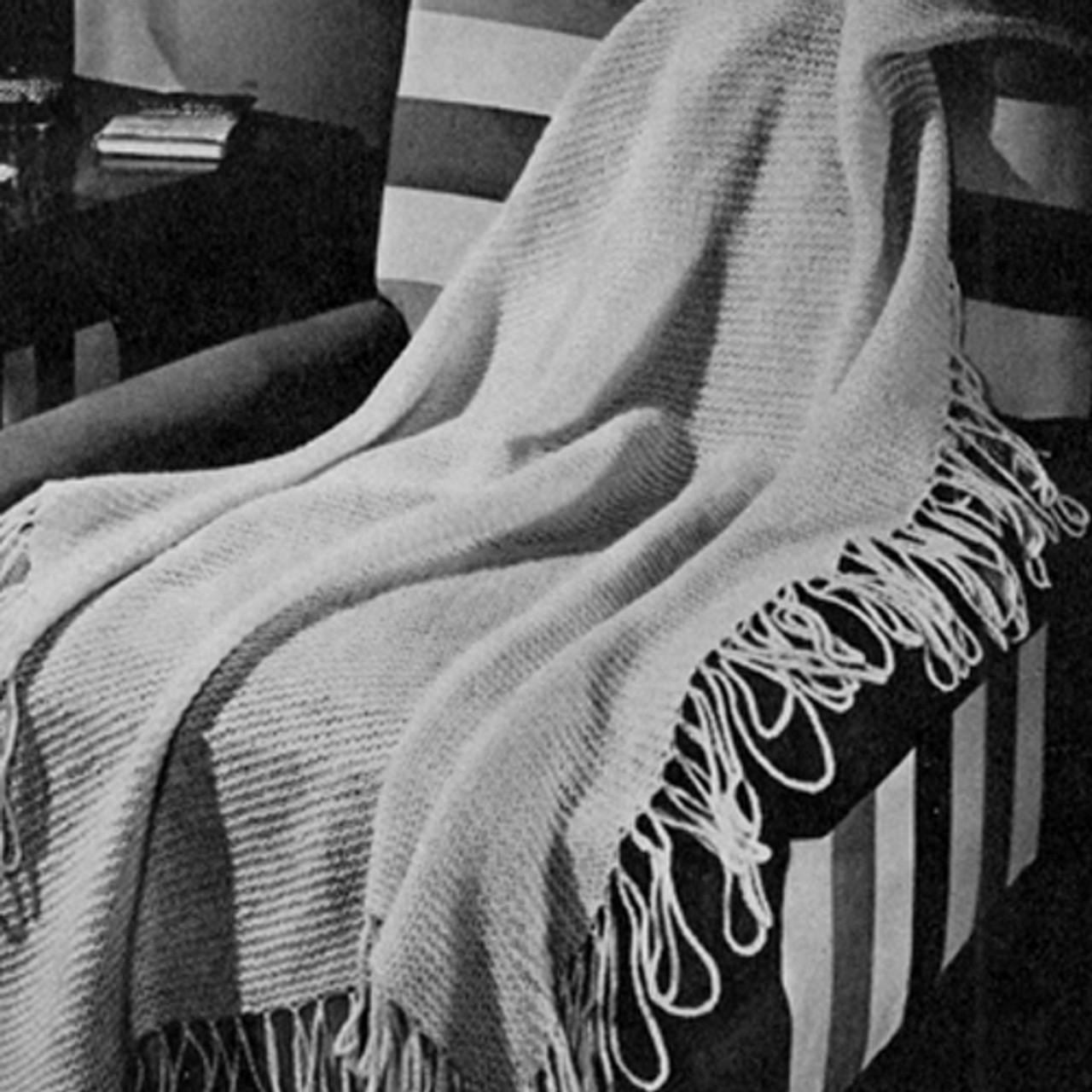 Garter Stitch Knitted Afghan Pattern