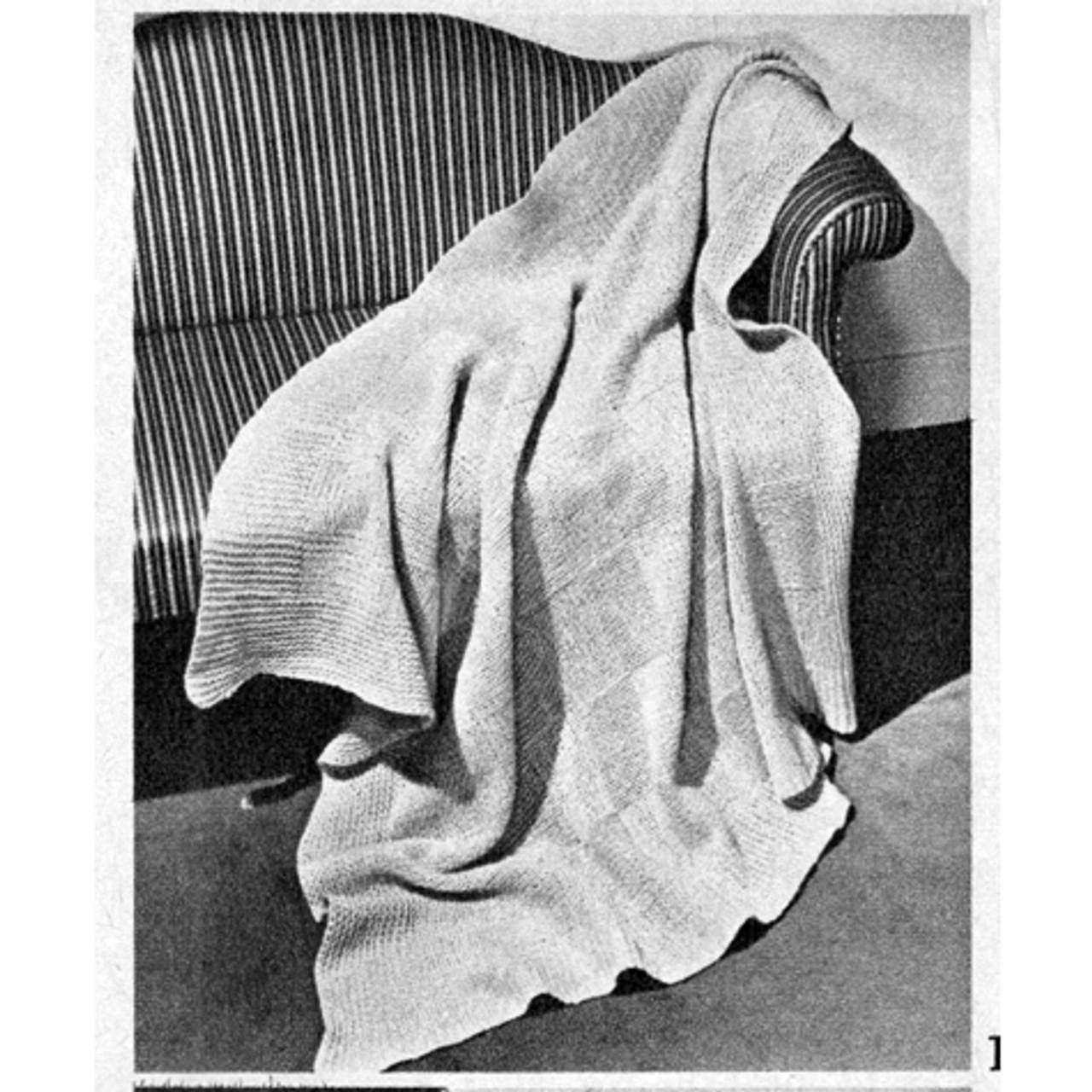 Easy Vintage Knitted Afghan Pattern
