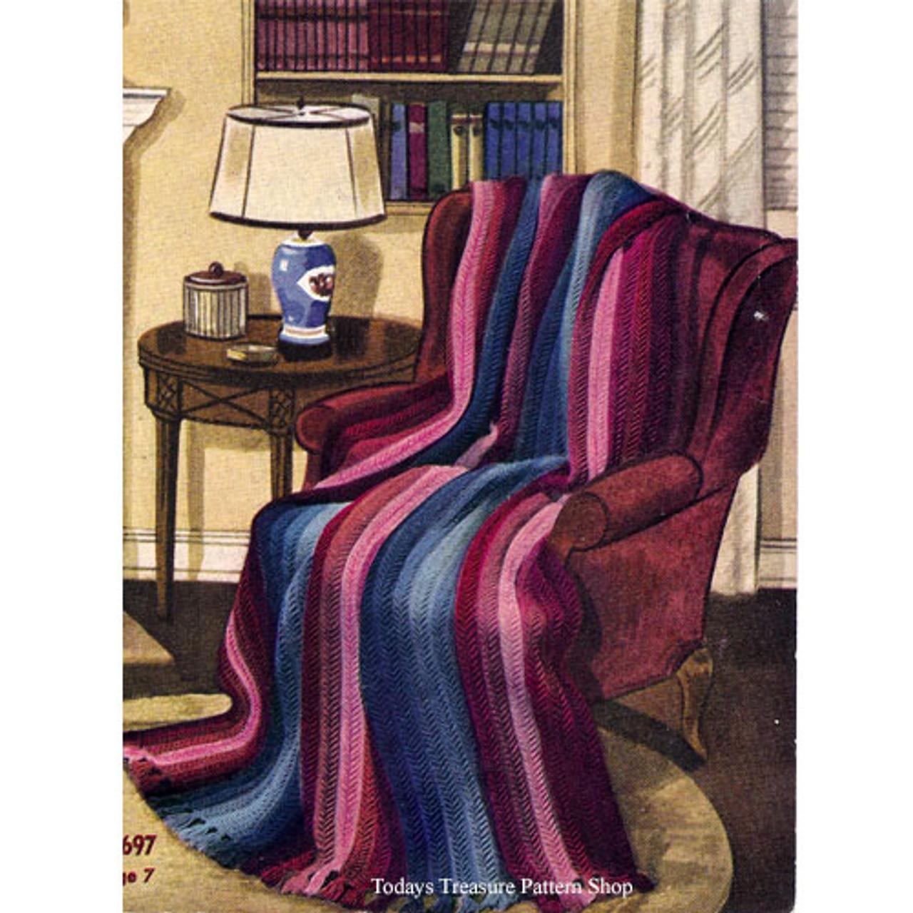 Knitting Pattern for Vintage Fleetwood Afghan