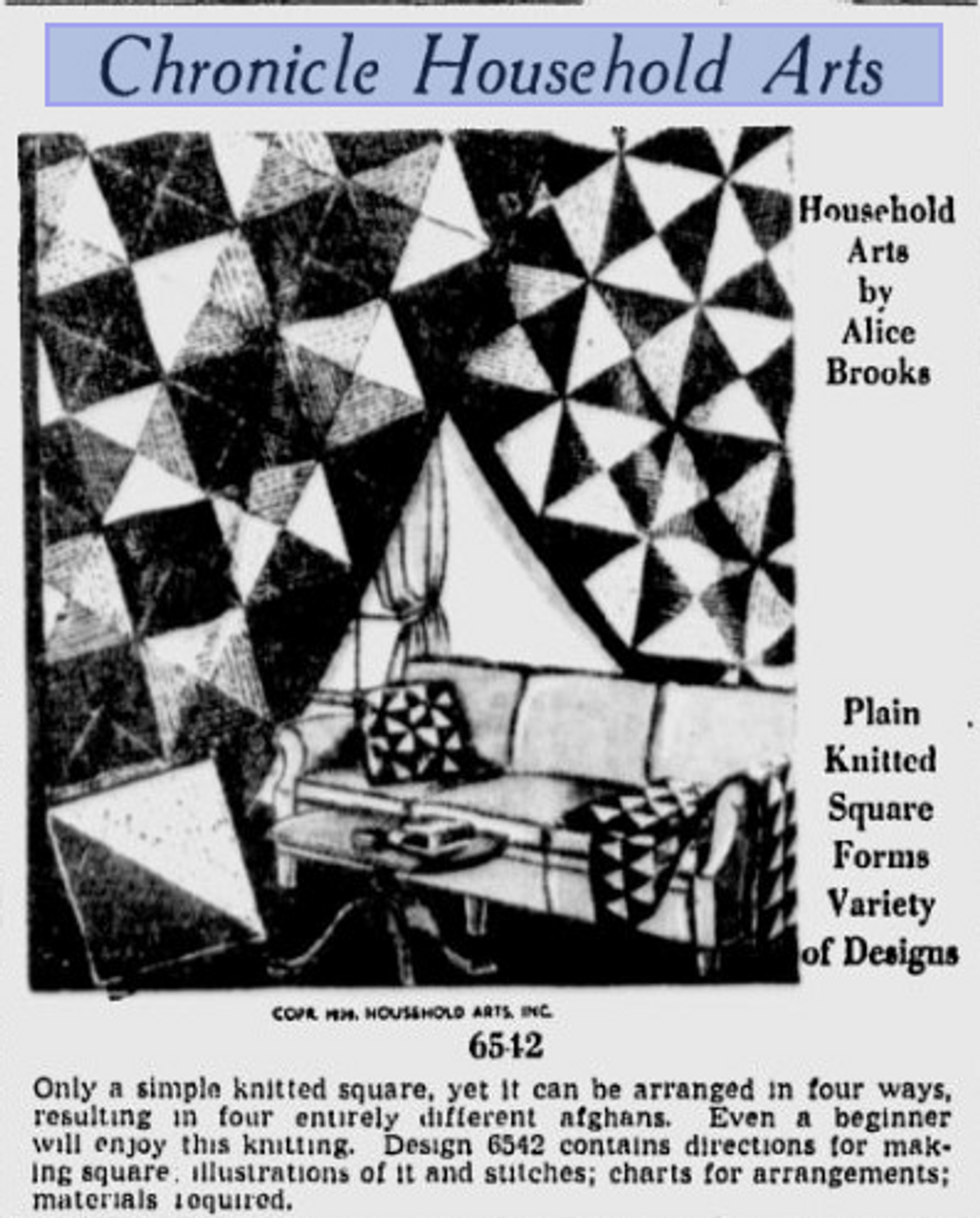 Alice Brooks 6542 Newspaper Clipping