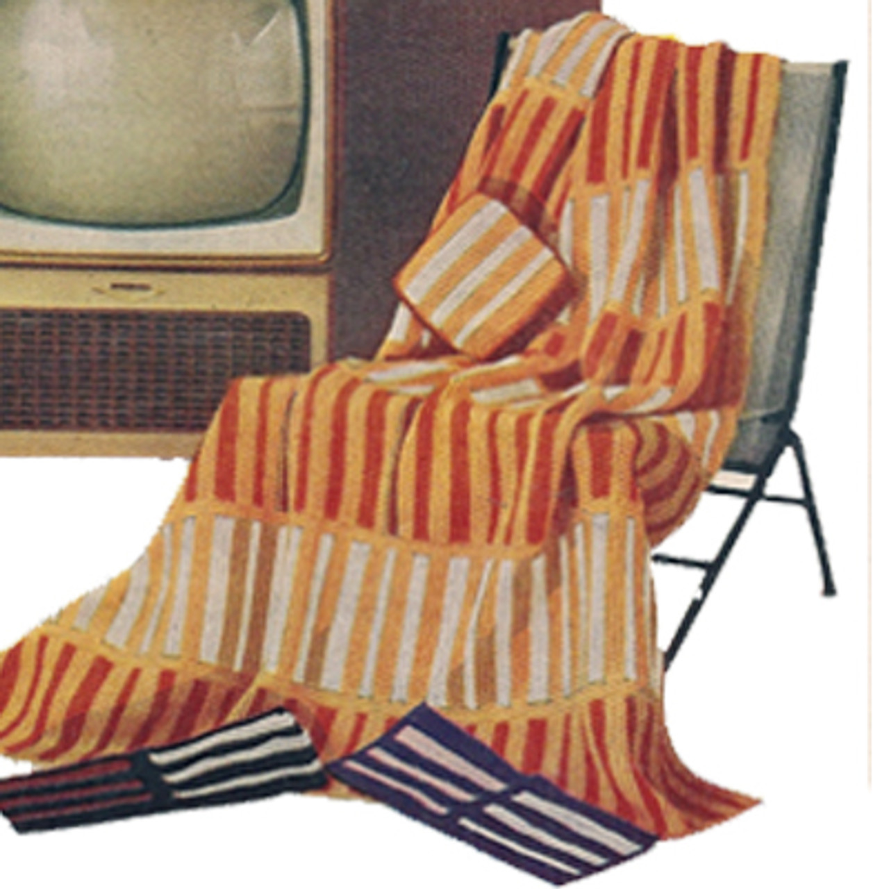Knitting Pattern Geometric Stripe Afghan