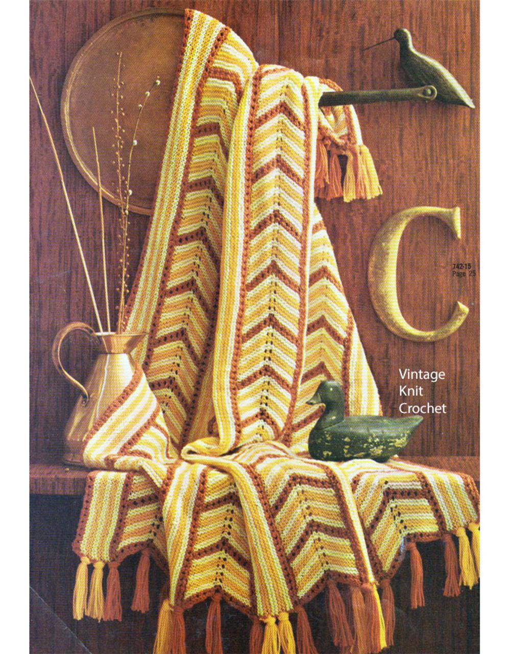 Easy Garter Stitch Blanket Knitting Pattern No 742-15