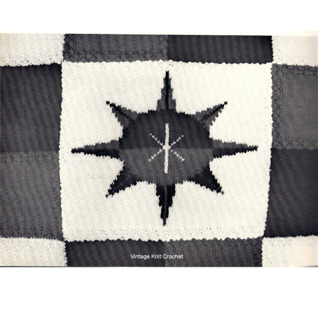 Vintage Nautical Star Crochet Block Pattern