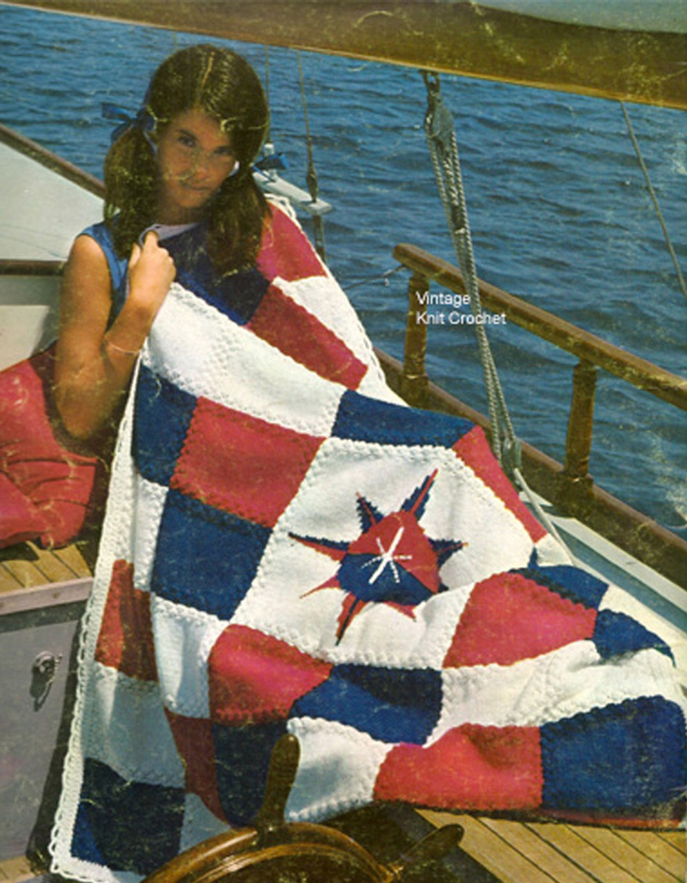 Crocheted Nautical Star Afghan Pattern