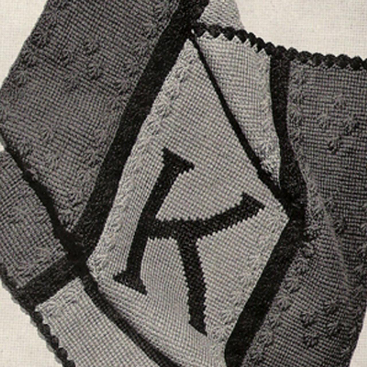 Monogrammed Crochet Baby Blanket Pattern