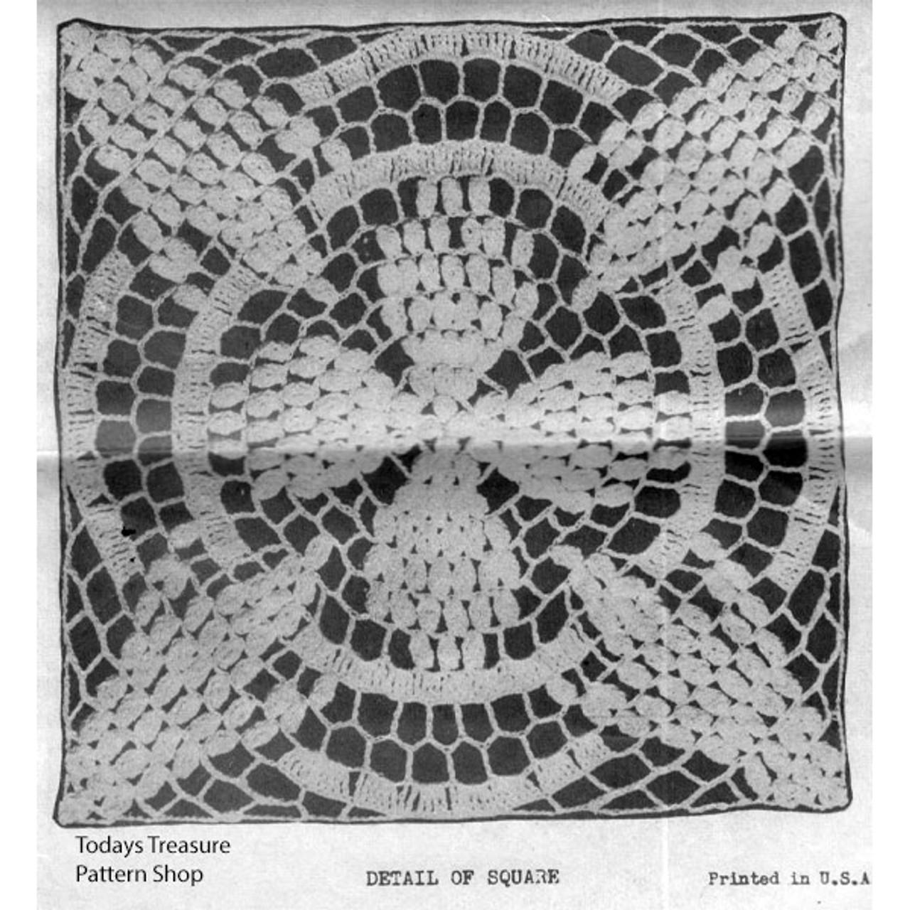 Vintage Popcorn Square Pattern for Bedspreads