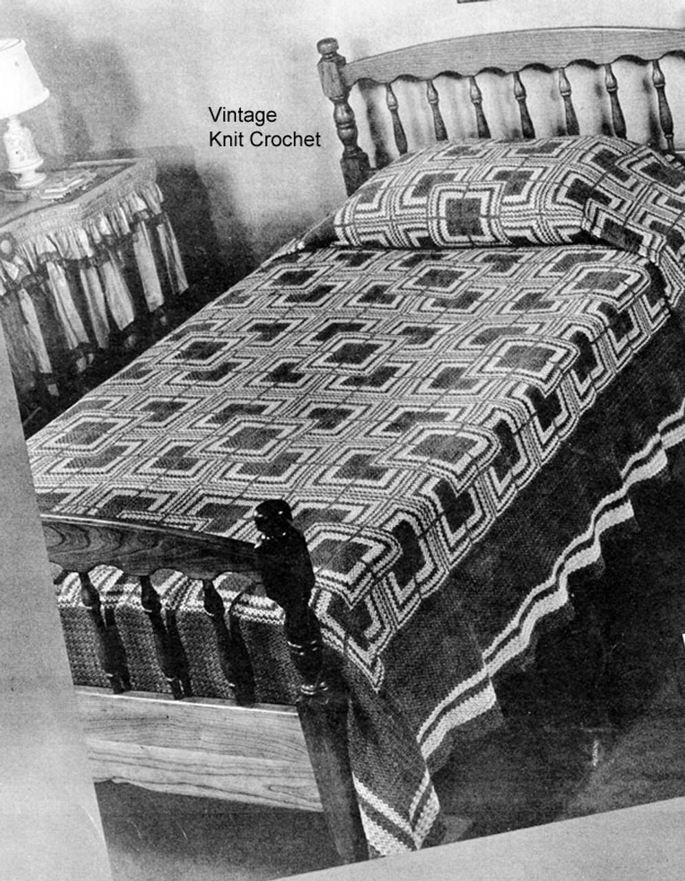 Crochet Log Cabin Bedspread Pattern