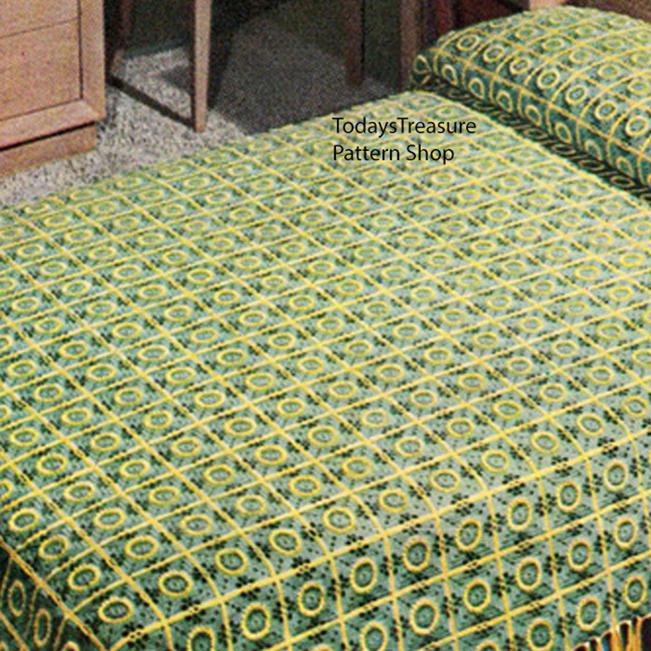 Crocheted Pennsylvania Modern Bedspread Pattern