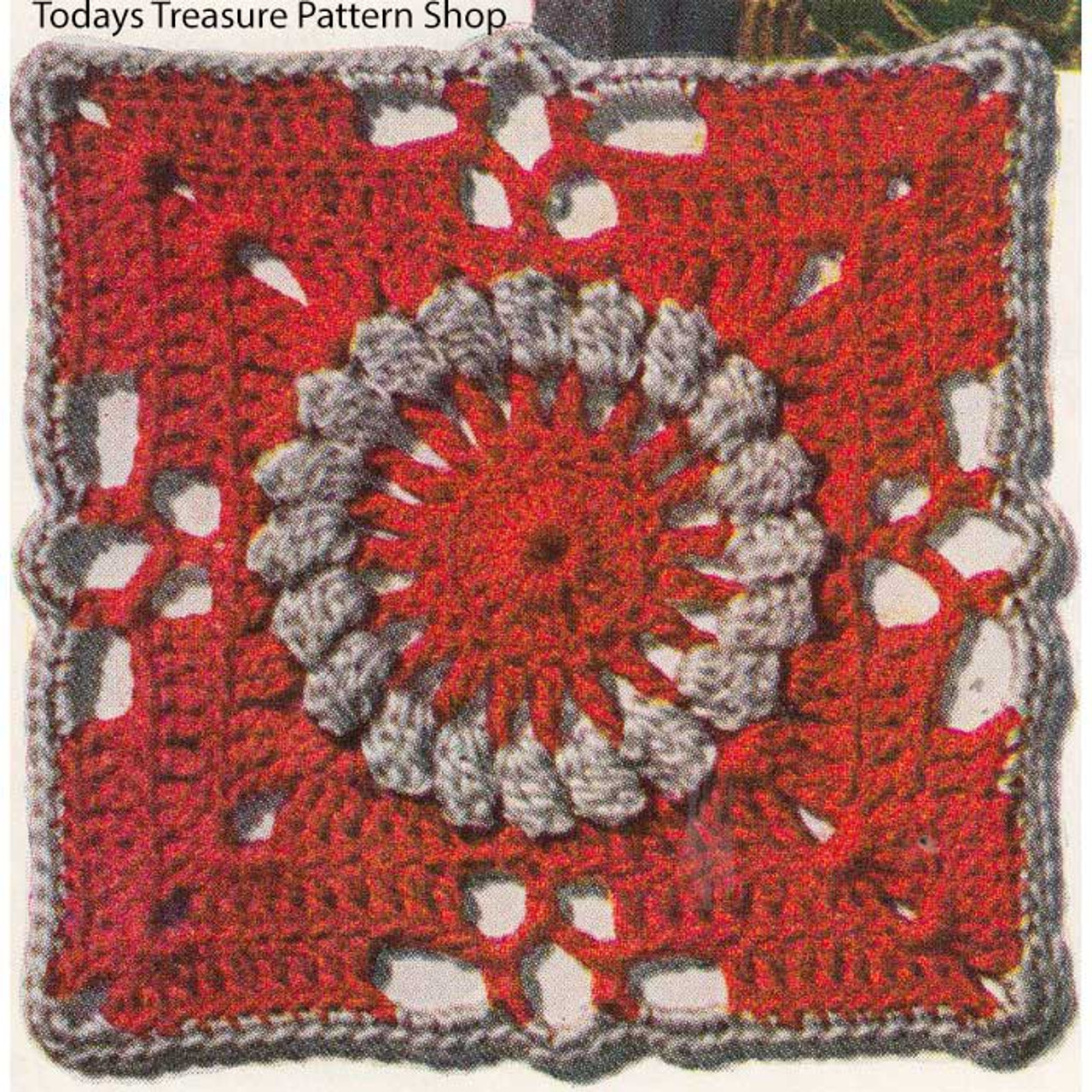 Crocheted Medallion Pattern, Pennsylvania Modern