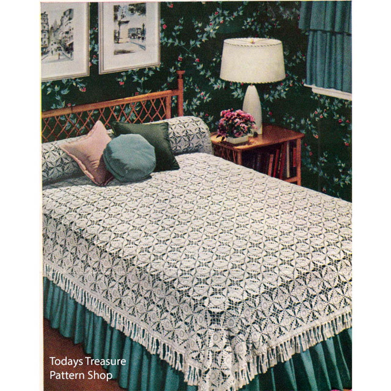Vintage California Modern Bedspread Crochet Pattern