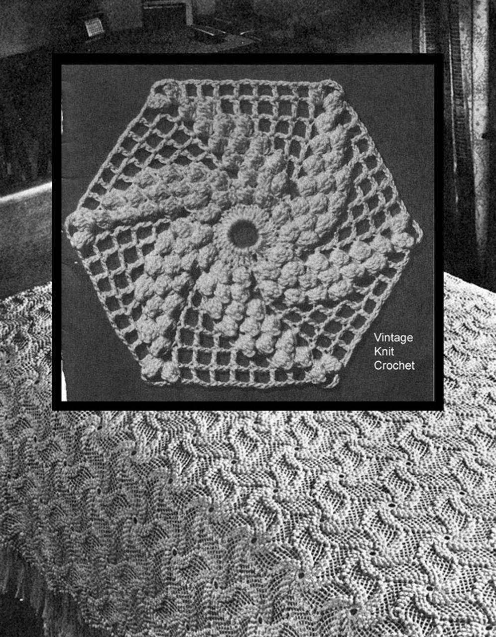 Crochet Pinwheel Bedspread pattern No 6127