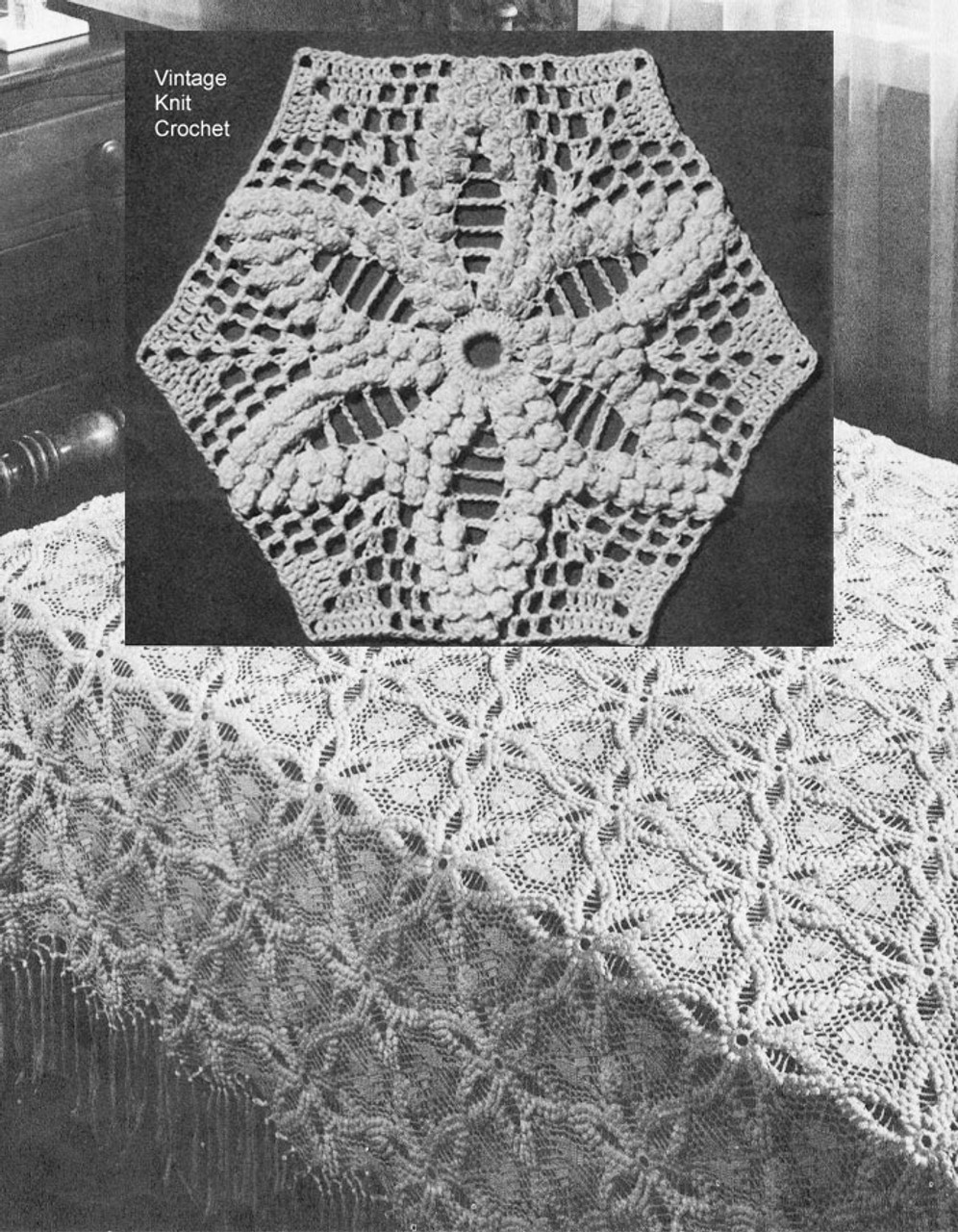 Octagon Crochet Bedspread Medallion Pattern