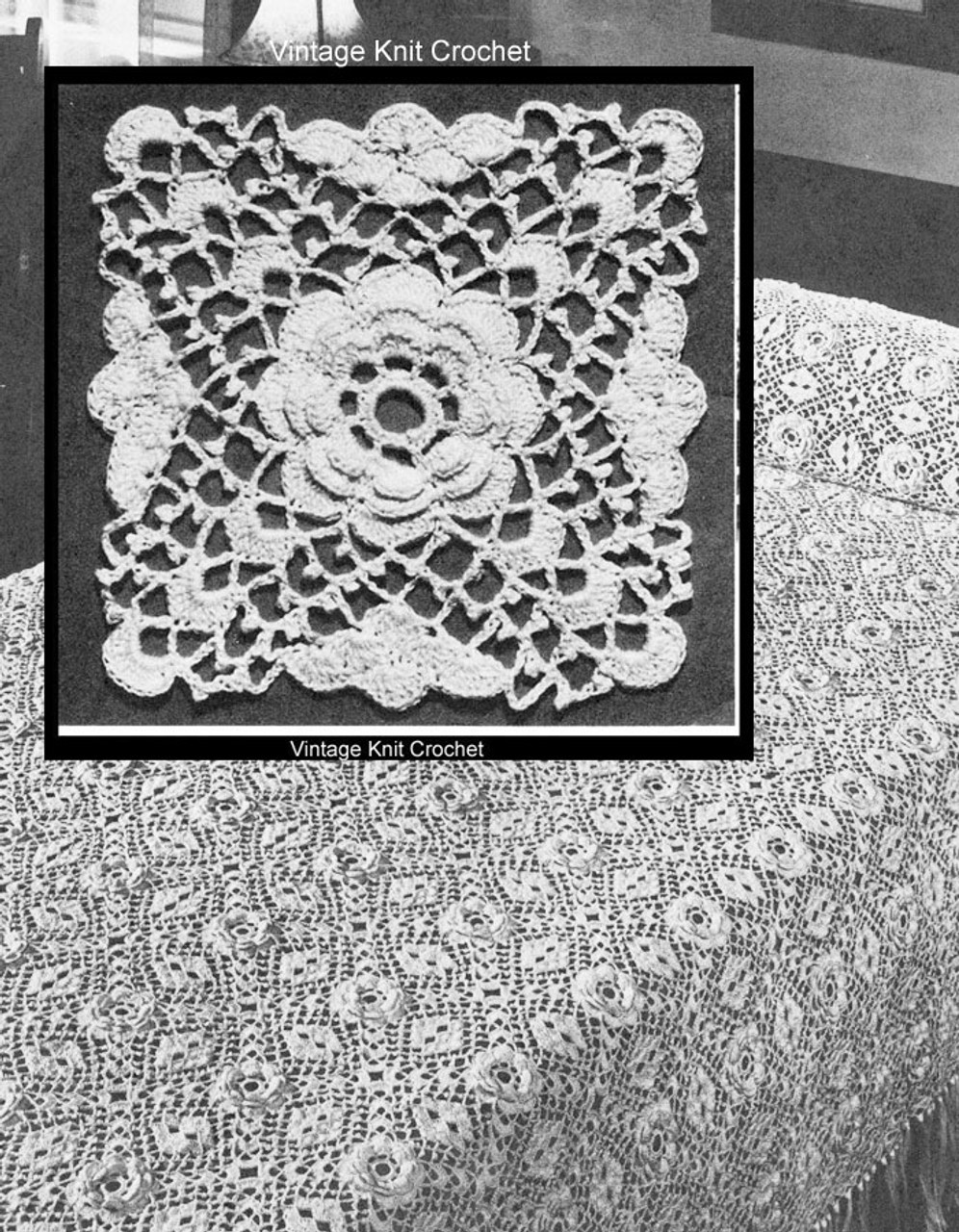 Irish Rose Crochet Medallion Pattern for Bedspread