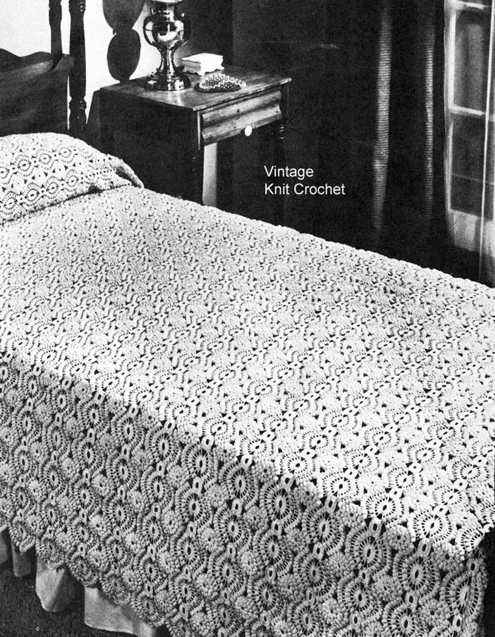 Crochet Bedspread Pattern No 6124