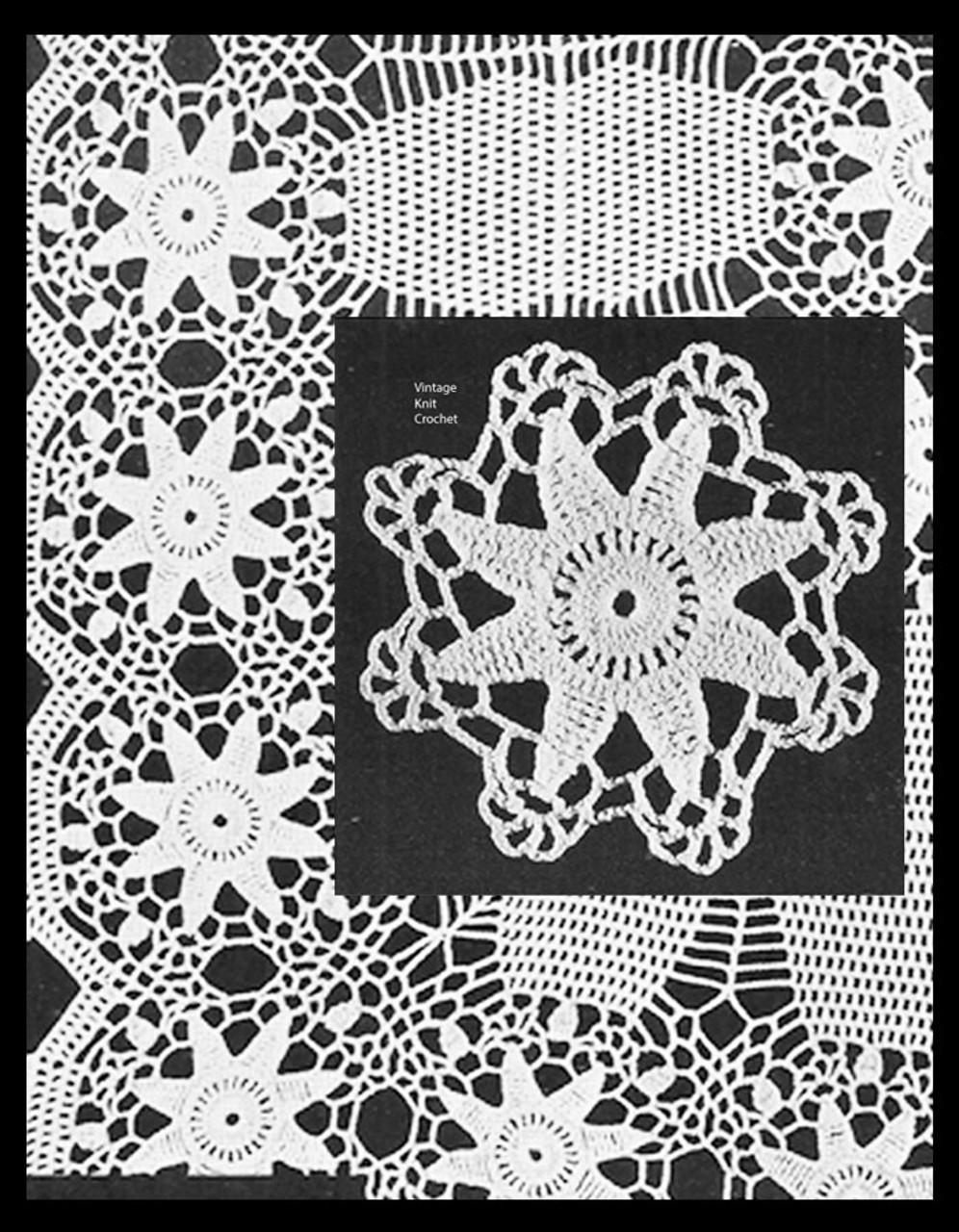 Vintage Crochet Bedspread Pattern, Star Medallion