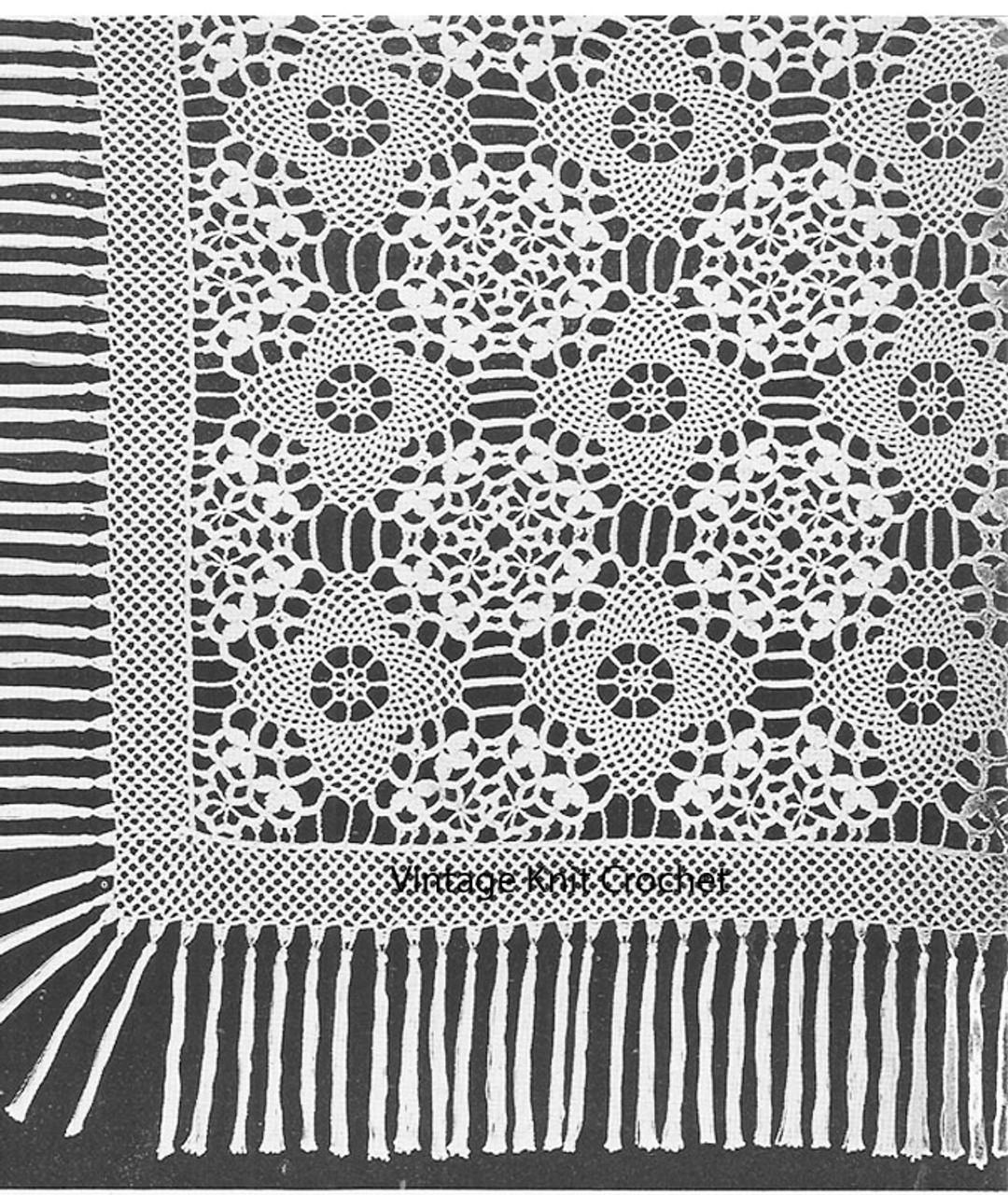 Crochet Armenian Lace Bedspread Patter